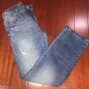 Gap Kids - Plaid Lined Straight Leg Jeans - sz: 12